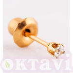 84 Crystal April classic setting - 3mm 24Kt