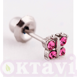 848S-2 Butterfly Rose Crystal - St Steel