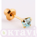 896-3 Aquamarine Butterfly - 24Kt