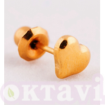 903C1 Puffed Heart - 5mm 24Kt
