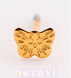 Butterfly - 5mm 24Kt Gold Plated