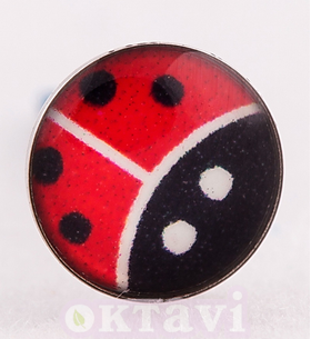Lady Bug - 5mm St Steel