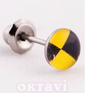 601C Button Style Yellow Jack - St Steel