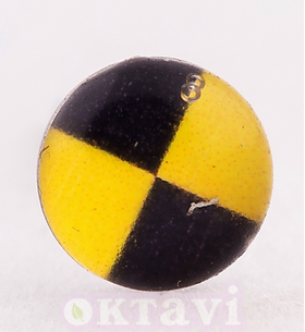Button Style Yellow Jack - 5mm Stainless Steel
