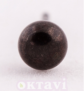 Black Ball - 4mm Stainless Steel
